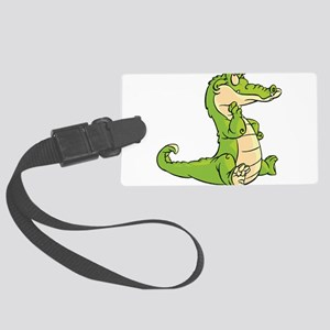 Thinking Crocodile Luggage Tag