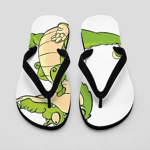 Thinking Crocodile Flip Flops