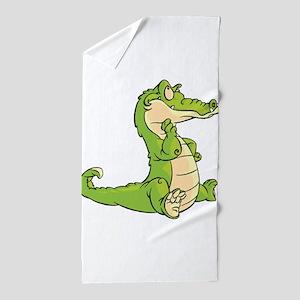 Thinking Crocodile Beach Towel
