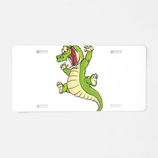 Dancing Croc Aluminum License Plate