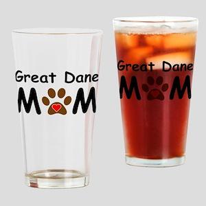 Great Dane Mom Drinking Glass