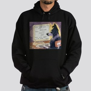 Border Collie dog writer Hoodie