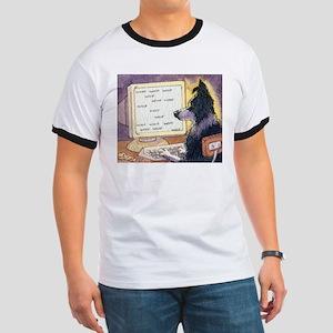 Border Collie dog writer T-Shirt