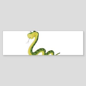 Green Cartoon Snake Bumper Sticker