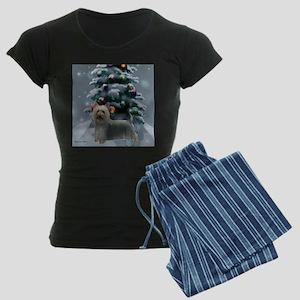 Silky Terrier Christmas Women's Dark Pajamas