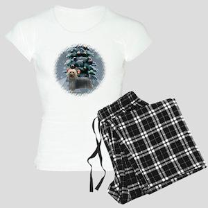 Silky Terrier Christmas Women's Light Pajamas