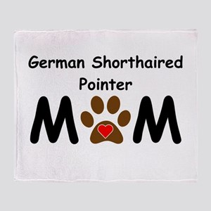 German Shorthaired Pointer Mom Throw Blanket