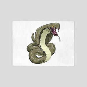 Angry Snake 5'x7'Area Rug