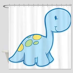 Cute Baby Dinosaur Shower Curtain