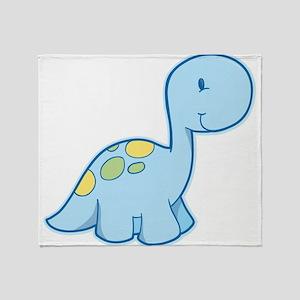 Cute Baby Dinosaur Throw Blanket
