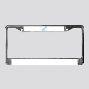 Cute Baby Dinosaur License Plate Frame