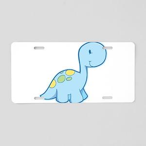 Cute Baby Dinosaur Aluminum License Plate