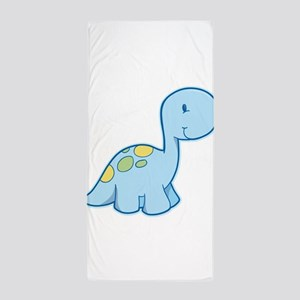 Cute Baby Dinosaur Beach Towel