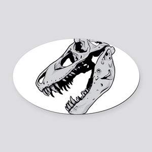 Dinosaur Skeleton Oval Car Magnet