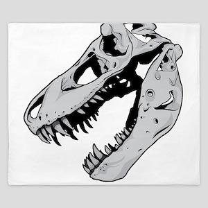 Dinosaur Skeleton King Duvet
