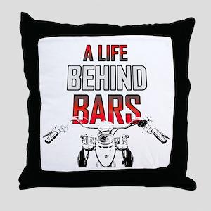 Motorcycle - A Life Behind Bars Throw Pillow