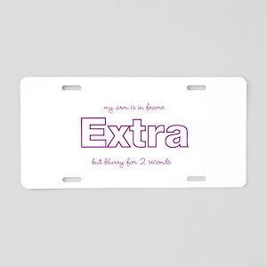 extra 2 seconds Aluminum License Plate