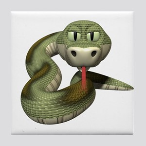 Cool Green Snake Tile Coaster