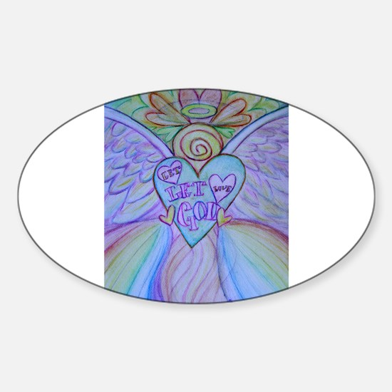 Let Love, Let God Rainbow Angel Decal