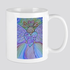 Let Love, Let God Rainbow Angel Mug