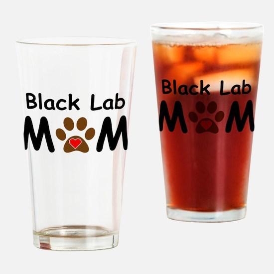 Black Lab Mom Drinking Glass