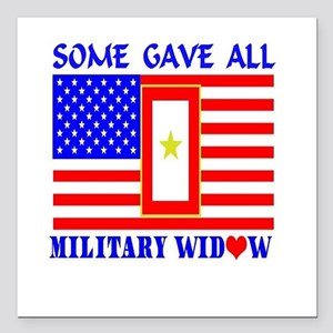 """Some Gave All Widow Square Car Magnet 3"""" x 3"""""""