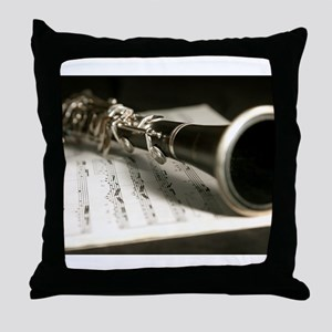 clarinet and Music Case Mens Full Shirt Throw Pill
