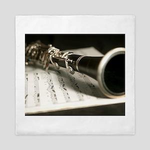 clarinet and Music Case Mens Full Shirt Queen Duve
