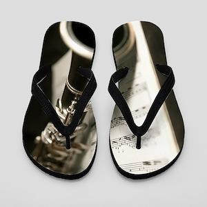 Clarinet and Musc Flip Flops Band Flip Flops
