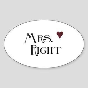 Mrs. right Sticker