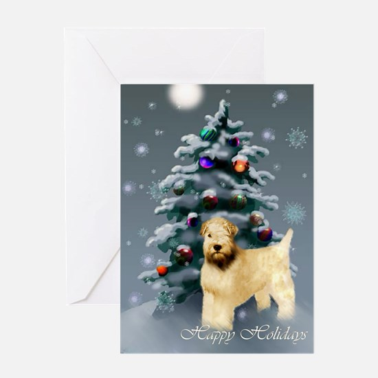 Wheaten Terrier Christmas Greeting Card