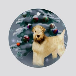 Wheaten Terrier Christmas Round Ornament
