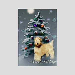 Wheaten Terrier Christm Rectangle Magnet (10 pack)