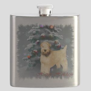 Wheaten Terrier Christmas Flask