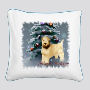 Wheaten Terrier Christmas Square Canvas Pillow