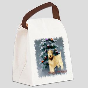 Wheaten Terrier Christmas Canvas Lunch Bag