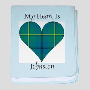 Heart - Johnston baby blanket