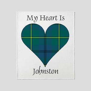 Heart - Johnston Throw Blanket