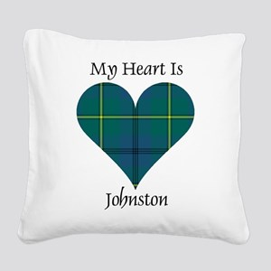 Heart - Johnston Square Canvas Pillow