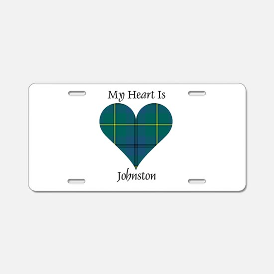 Heart - Johnston Aluminum License Plate