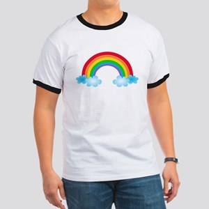 Rainbow & Clouds Ringer T