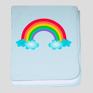 Rainbow & Clouds baby blanket