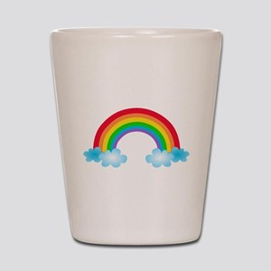 Rainbow & Clouds Shot Glass