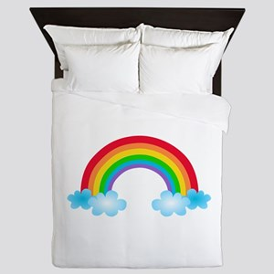 Rainbow & Clouds Queen Duvet