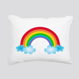 Rainbow & Clouds Rectangular Canvas Pillow
