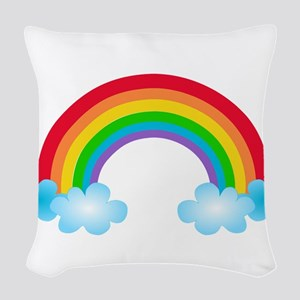 Rainbow & Clouds Woven Throw Pillow