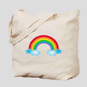 Rainbow & Clouds Tote Bag