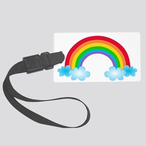 Rainbow & Clouds Large Luggage Tag