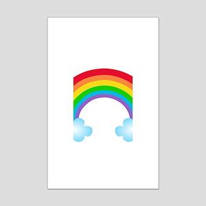 Rainbow & Clouds Mini Poster Print
