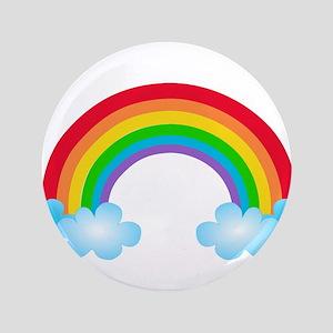 "Rainbow & Clouds 3.5"" Button"